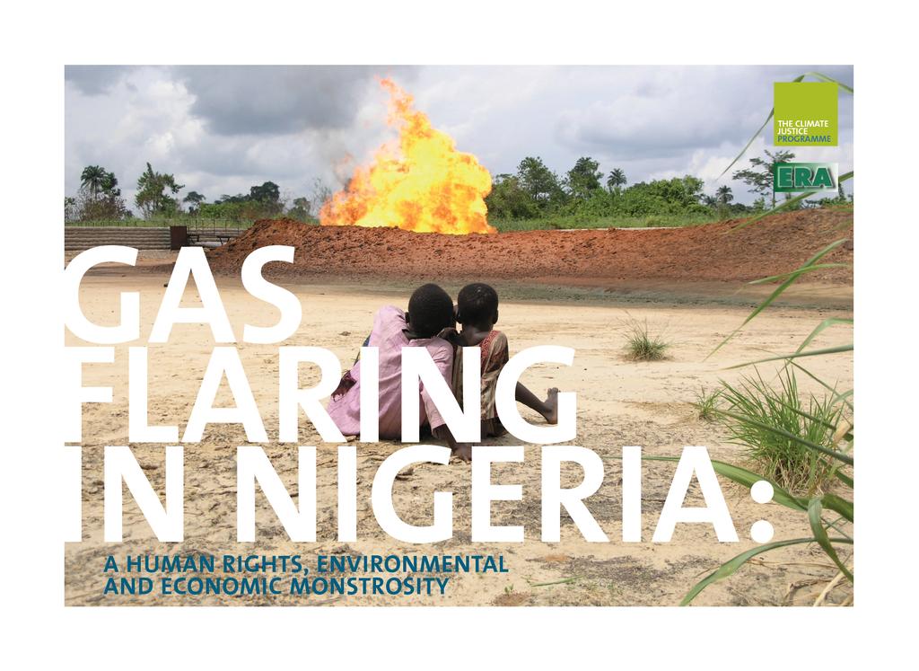 Voorbeeld van de eerste pagina van publicatie 'Gas flaring in Nigeria: A human rights, environmental and economic monstrosity'