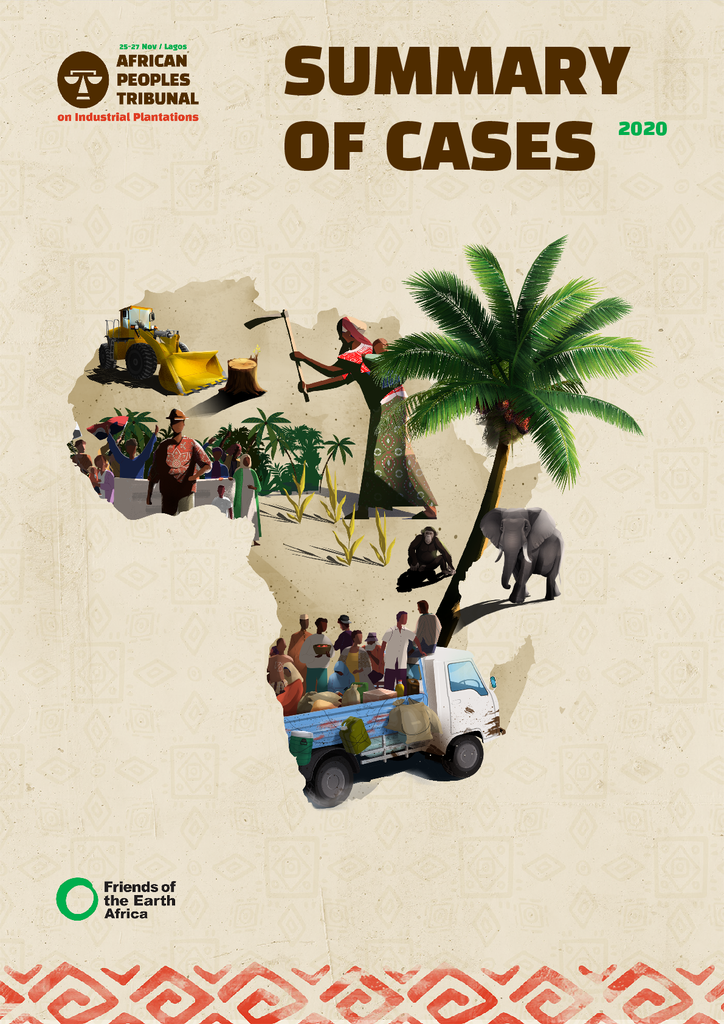 Voorbeeld van de eerste pagina van publicatie 'African Peoples Tribunal: summary of cases'
