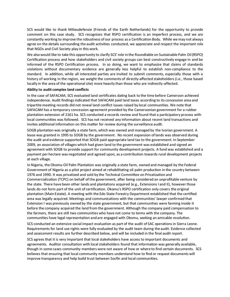 Voorbeeld van de eerste pagina van publicatie 'SCS Response to Box Country Case Study'