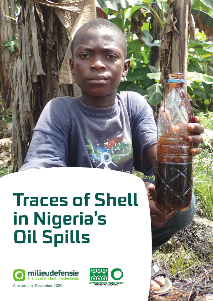 Voorbeeld van de eerste pagina van publicatie 'Traces of Shell in Nigeria's oil spills'